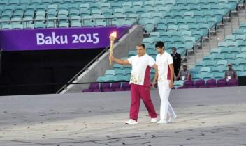 Drapelul Moldovei pe Stadionul Olimpic din Baku