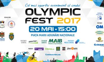 Comunicat de presă | Olympic Fest 2017 – cel mai sportiv eveniment al anului revine la Chișinău!
