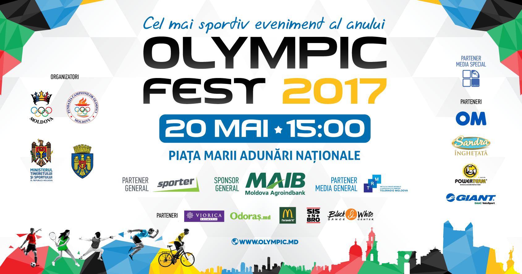 Comunicat de presă   Olympic Fest 2017 – cel mai sportiv eveniment al anului revine la Chișinău!