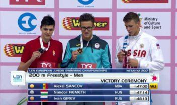 Sancov a stabilit un nou record mondial la 200 m stil liber