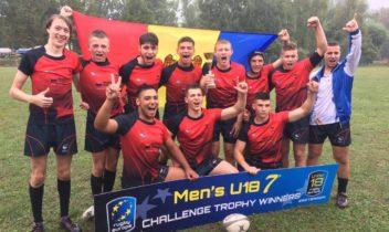 Naționala de rugby 7 a Moldovei a câștigat Challenge Cup