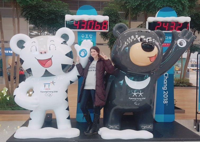 Xenia Nani, voluntar moldovean la competițiile de snow-board și schi acrobatic