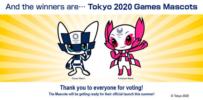 Au fost anunțate mascotele câștigătoare pentru Tokyo 2020